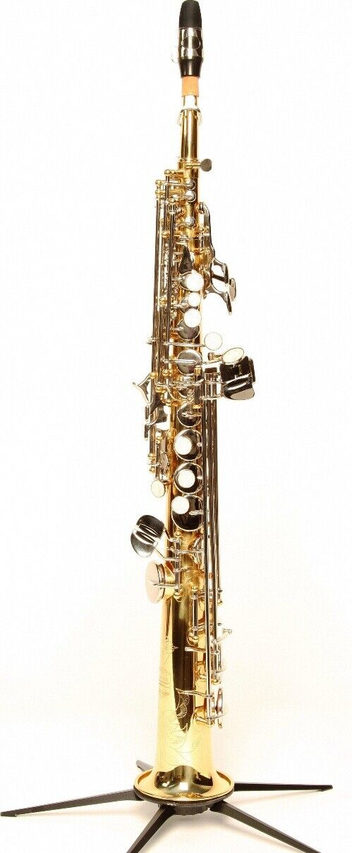 SYMPHONIE Westerwald DESIGN Sopransaxophon  Sopran Saxophon, Gold Silber, Neu