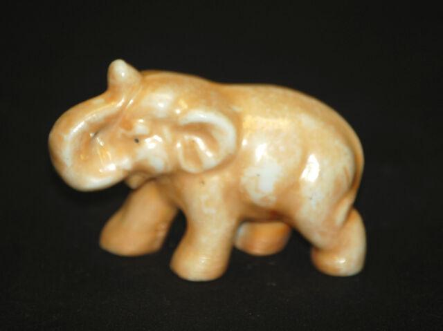 Old Vintage Miniature Ceramic Wild Elephant Figurine Shadowbox Decor ~ Japan a