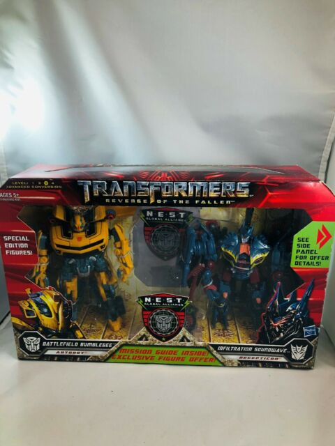 Transformers Revenge Fallen Bumblebee & Soundwave Nest Action Figure
