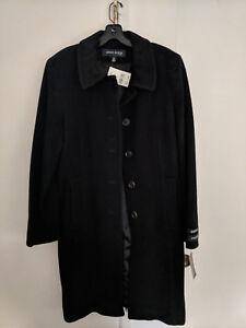 375 Nwt Cashmere Klein Coat 10 Anne Taglia Wool Black 8A76wUR8S