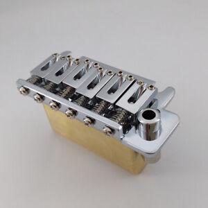 Brass-Block-2-post-point-Chrome-push-in-arm-Guitar-Tremolo-Bridge-For-Suhr-guita