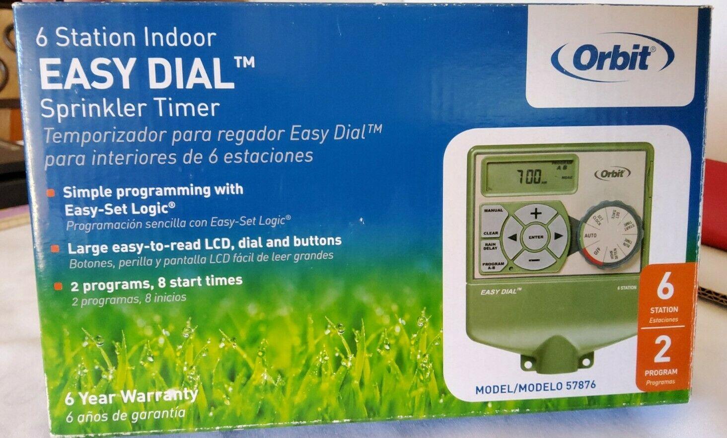 Orbit 6 Station Indoor Easy Dial Sprinkler/ Irrigation Timer Model 57876