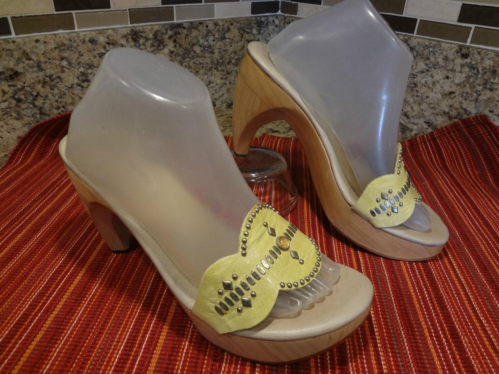 SIZE US 10 M CALLEEN GORGEOUS  CALLEEN M CORDERO WOMEN Schuhe STUDS SLIDES SANDALS sexy d0e407