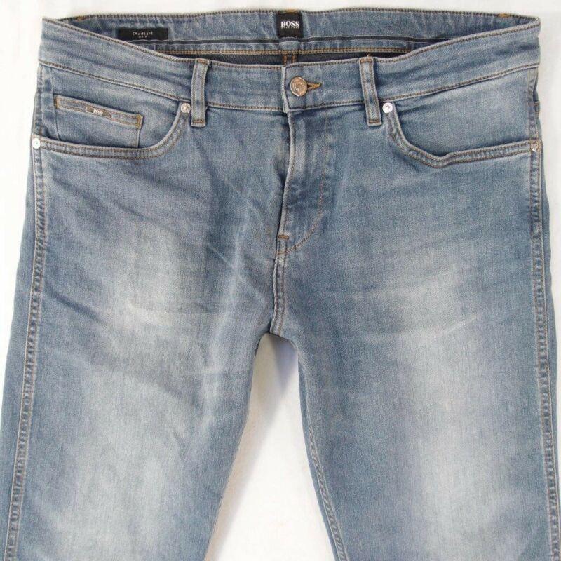 Herren Hugo Boss Delaware Stretch Slim Gerade Blau Jeans W34 L34 Die Neueste Mode