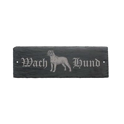 Schild Wachhund « Bullmastiff » Türschild Hunde Hundehütte Hundeschild Geschenk Bequemes GefüHl