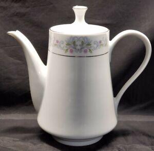VTG-Crown-Ming-Fine-China-Jian-Shiang-8-1-2-034-Coffee-Tea-Pot-Home-Decor-Floral
