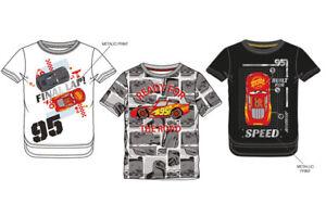 Disney-Cars-Pixar-T-Shirt-Jungen-McQueen-3-Motive-Auto-98-104-110-116-128-Neu
