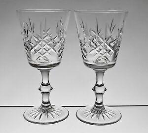 """Cc472 Paire Edinburgh Crystal Lomond 6 1/8"""" Verres à Vin-signé. 2 4 Av.-afficher Le Titre D'origine Xvu0l04r-08000158-938021263"""