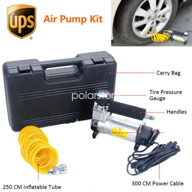 Portable Car Air Compressor 100 PSI Heavy Duty Inflator Tire Pump 12V DC Plug-in