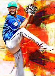 2021 Joey Lucchesi New York Mets 7/25 Art ACEO Sketch Print Card By:Q