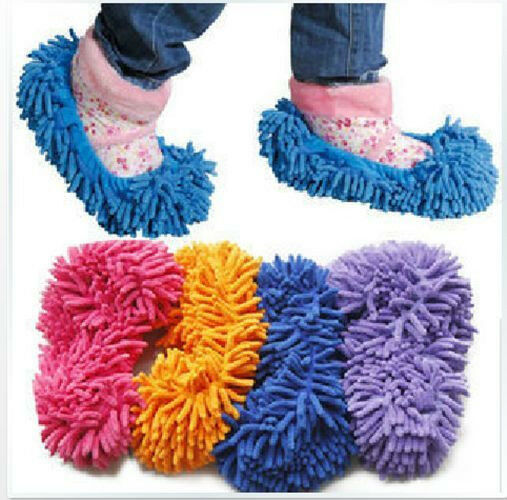 1PIECE HS Mop Slipper Floor Polishing Cover Cleaner Dusting Cleaning Foot Shoes