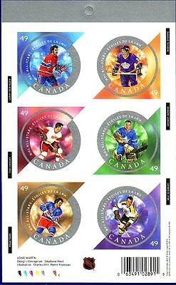 Canada 2004 NHL Hockey All-Stars Stamp Booklet (#2018) BK284 !