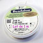 Fil cablé doré Beadalon 1 m - 7 brins diamètre 0,46 mm