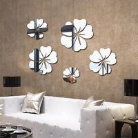 Neu Blüte Blumen Spiegel Wandtattoo Aufkleber Sticker Wohnzimmer Bad Wand Deko