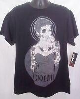 Tony Hawk Cali Life Mens T-shirt Black Sz Large 1/2 Woman 1/2 Skeleton