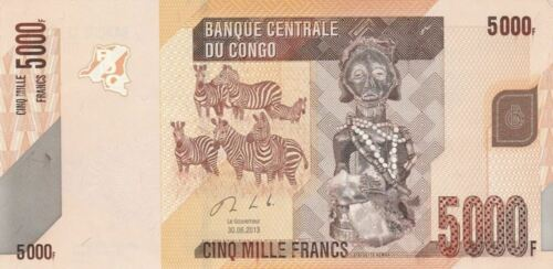 Congo 5000 5.000 Franc 2013 Without Serial Error Rare UNC