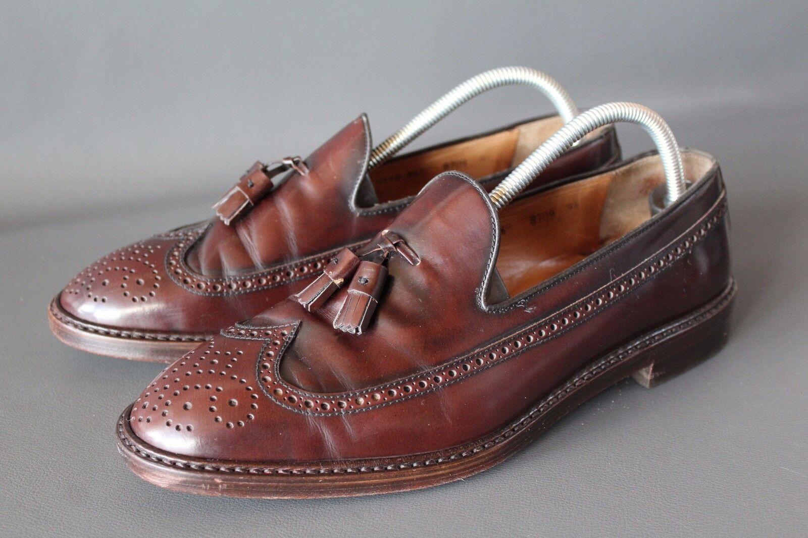 Lottusse zapatos caballero 9 1 2, 43,5, 44 cuero zapatos Tassel rr14