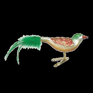 Old-World-Christmas-CHRISTMAS-BIRD-18008-N-Glass-Ornament-w-OWC-Box
