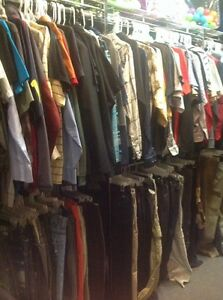 829233adfc325 50 Pc Mens Clothing Shirts Pants Shorts Used S-2x Clothes Bulk ...