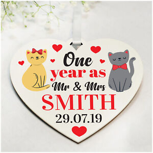 1st 10th Wedding Anniversary Gifts PERSONALISED for ...
