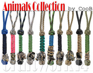 Awesome EDC Survival Paracord Lanyard Keychain Strap Key with Hand Casted Bead Beads Charms Alien /& Predator Collection US Military Grade Type III 550 Lb Cord
