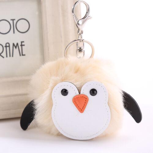 Pinguin flauschige Schlüsselanhänger Handtasche künstliche Kaninchen Pelz Frauen
