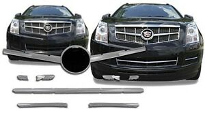 Chrome Grille Overlays FITS 2010 2011 2012 Cadillac SRX 10 Pieces Universal Kit