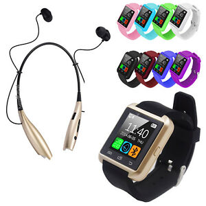 Bluetooth-Smart-Wrist-Watch-Phone-For-Android-Samsung-LG-with-Earphone