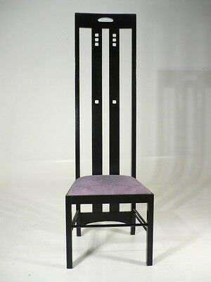 Arts U0026 Crafts Charles Mackintosh Ingram Tea Room Tall Back Chair Cassina Era