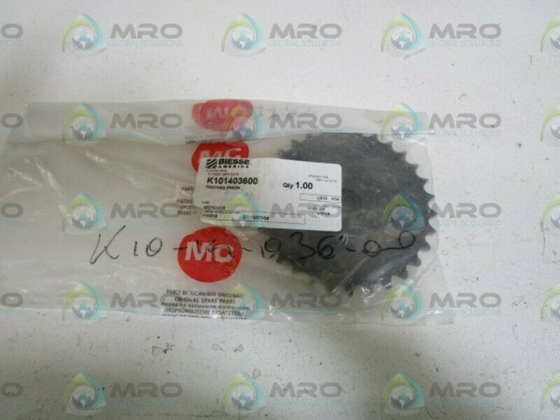 BIESSE TOOTHED PINION K101403600  NEW IN BAG