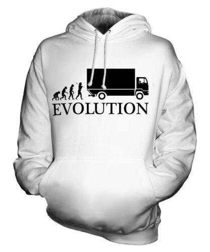 Camionneur evolution of man Unisexe Sweat À Capuche Hommes Femmes Mesdames Cadeau Accessoires