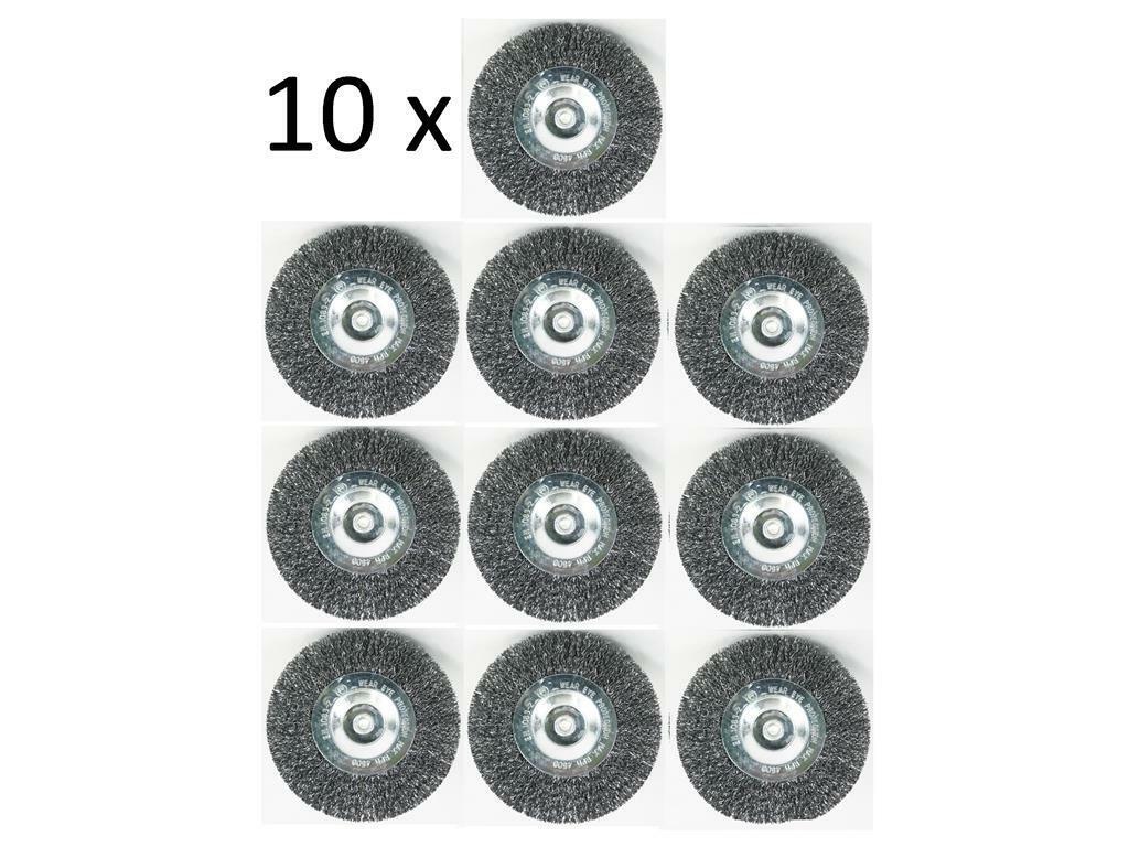 10x cepillos de metal para Hanseatic telares cepillo EFB 401 Elektro