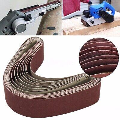 10 Stück Gewebe Schleifbänder 50x686mm Schleifband Für Bandschleifer Korn 60-240 GroßE Auswahl;