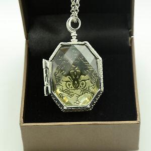 Mode-Halskette-Harry-Potter-SLYTHERIN-KRISTALL-SCHLANGE-HORCRUX-Locket-Amulett