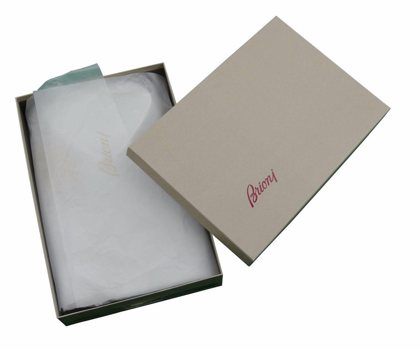 Brioni Herren H S BLAU Gestreift Baumwolle Handgefertigt Hemd Hemd Hemd Neu mit Etikett    Hohe Qualität  44691b