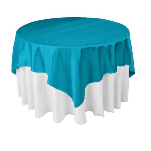 5x Satin Nappe Table couvre pour Mariage Fête Restaurant Banquet 145cm//57/'/'