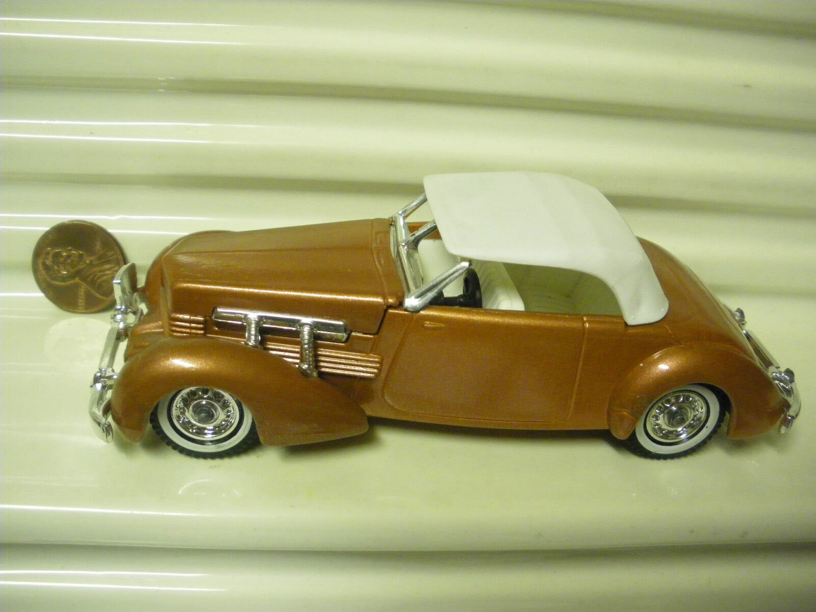 Lesney Matchbox models of yesteryear 1979 Y18A 1937 cuivre Cordon 812 Comme neuf NO BOX
