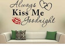 Always Kiss me goodnight Wandtattoo Wallpaper Wand Schmuck 57 cm Wandbild
