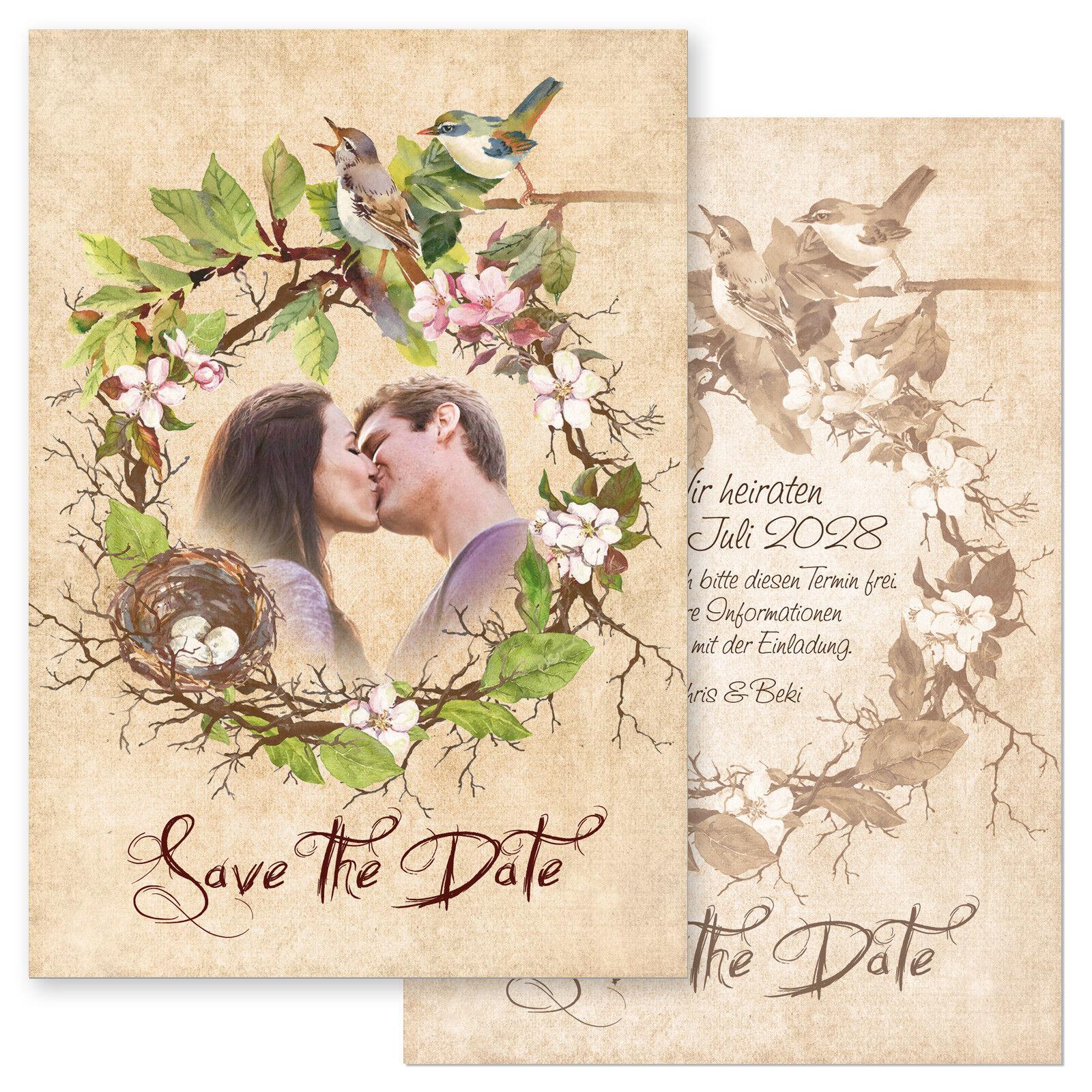Pers. Pers. Pers. Einladungskarten, Dankekarten, StD Hochzeit – Vogelhochzeit, Aquarell 1 | Sale  | Clearance Sale  3ae612