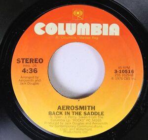 Rock-45-Aerosmith-Back-In-The-Saddle-Nobody-039-S-Fault-On-Columbia