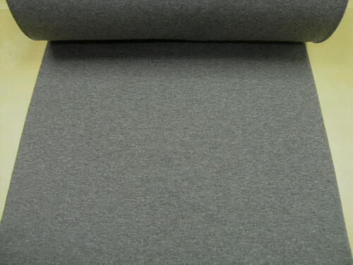 Ribbing tube uni heather dark gray Cotton Jersey Knit Fabric 0.54yd 0.5m