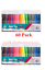 60x COLOUR FINE TIP FELT PENS Therapy Colouring Drawing Markers School Art Craft