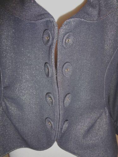 4 Giacca da Makali Silver Size 3 Black 12 uomo Alberto Metallic Stunning Sleeve AzrwAqU