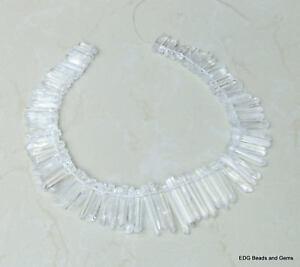 Clear-Polished-Quartz-Graduated-Strand-Crystal-Points-20-40-mm