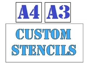 A4 Create Your own Custom Stencil Personalised Reusable Mylar or MDF Wood