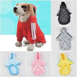 Small Breed Pet Dog Hoodie Coat Sweater Jacket Jumper Clothes