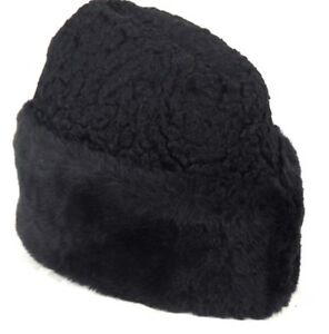 Womens - Vintage Black Boiled Wool Hat with