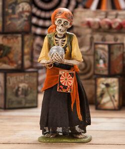 Bethany-Lowe-SKELETON-GYPSY-Halloween-Figure-TD7621