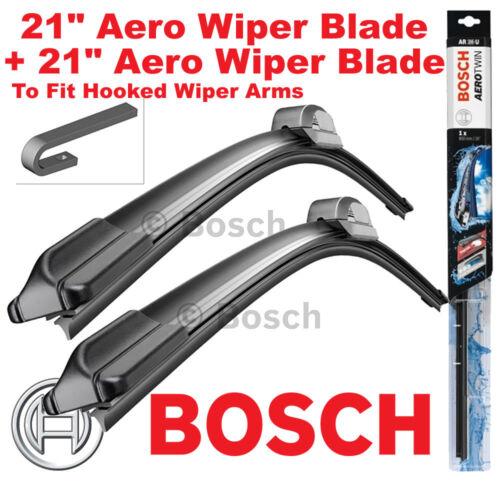 """Bosch Aerotwin Delantero Wiper Blades de 21/"""" pulgadas y 21/"""" de pulgada par Gancho Tipo"""