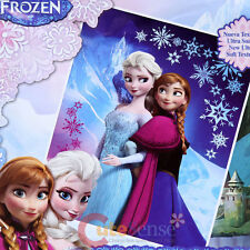 "Disney Frozen Elsa Anna Raschel Plush Blanket Twin 59"" x 78"" Frozen Mountain"
